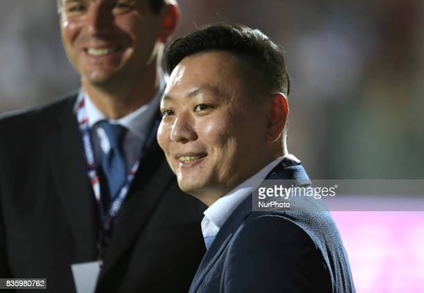 Han Li during the Serie A match between FC Crotone and AC Milan on August 20 2017 in Crotone Italy