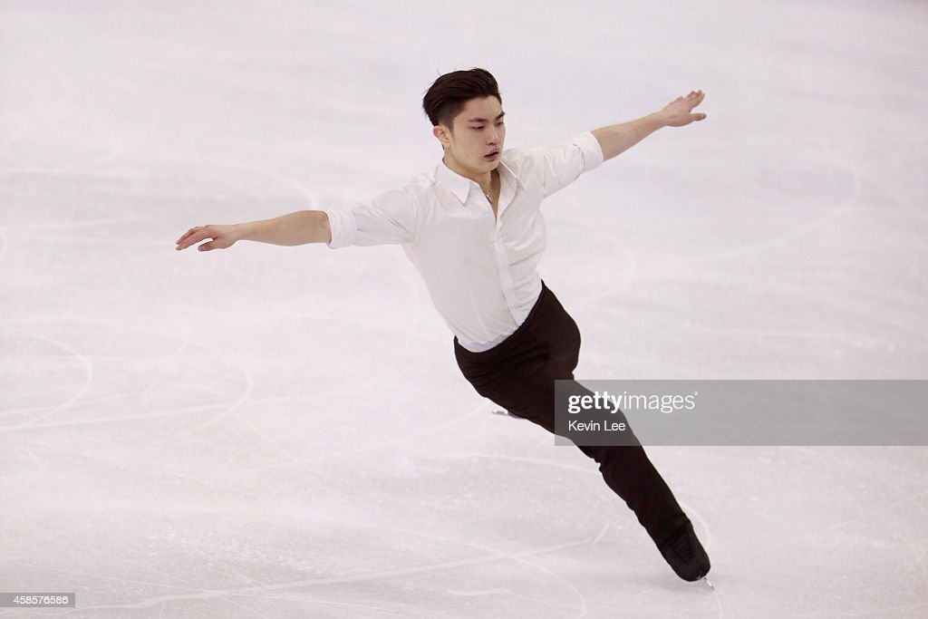 Han Yan of China competes in men short program during Lexus Cup of China 2014 on November 7, 2014 in Shanghai, China.