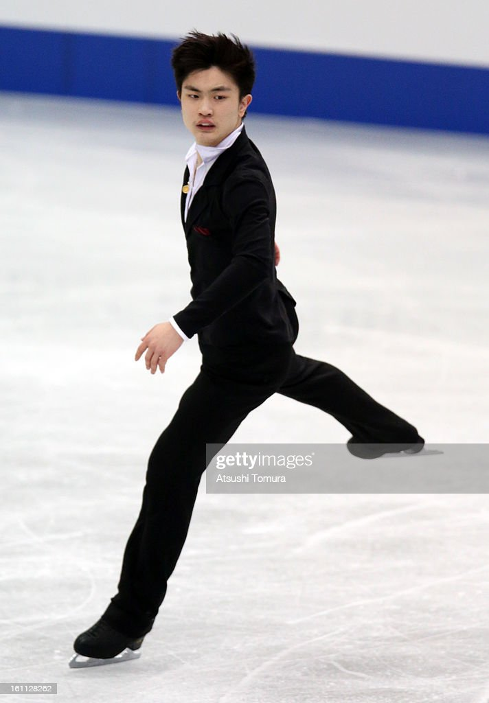 Han Yan of China competes in the Men's Free Skating during day two of the ISU Four Continents Figure Skating Championships at Osaka Municipal Central Gymnasium on February 9, 2013 in Osaka, Japan.