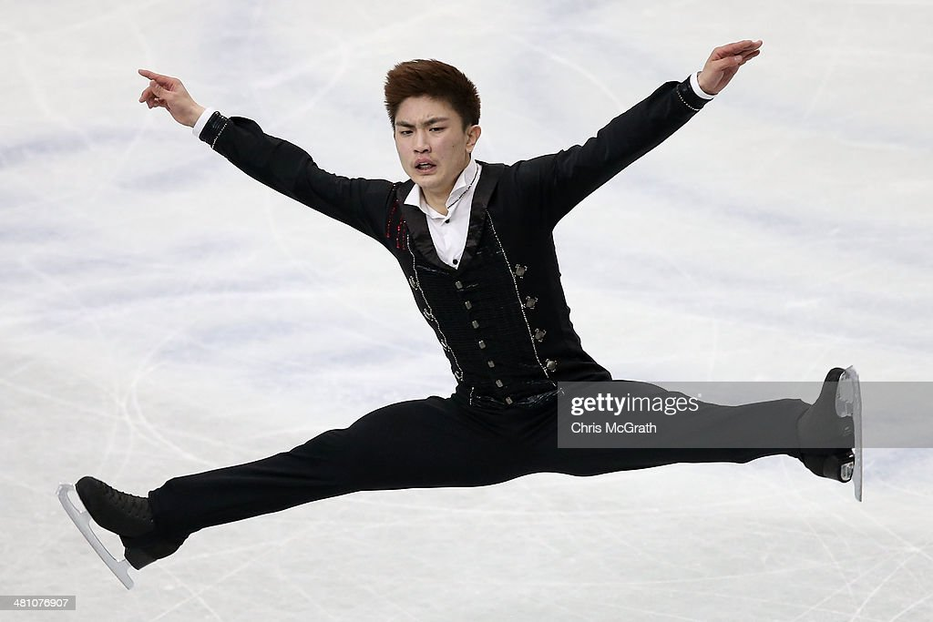 Han Yan of China competes in the Men's Free Skating during ISU World Figure Skating Championships at Saitama Super Arena on March 28, 2014 in Saitama, Japan.