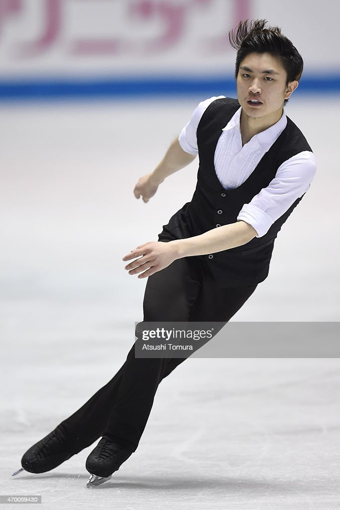 Han Yan of China competes in the men's free skating during the day two of the ISU World Team Trophy at Yoyogi National Gymnasium on April 17, 2015 in Tokyo, Japan.