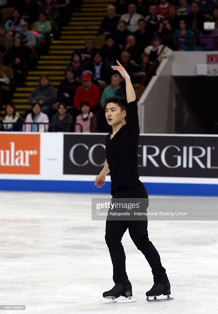 Han Yan of China performs in the mens free skate in October 24, 2015 in Milwaukee, Wisconsin.