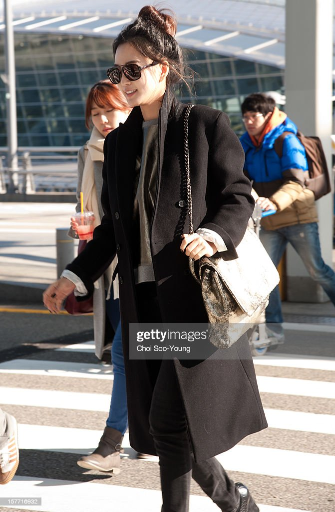 Han Ye-Sl is seen at Incheon International Airport on December 6, 2012 in Incheon, South Korea.
