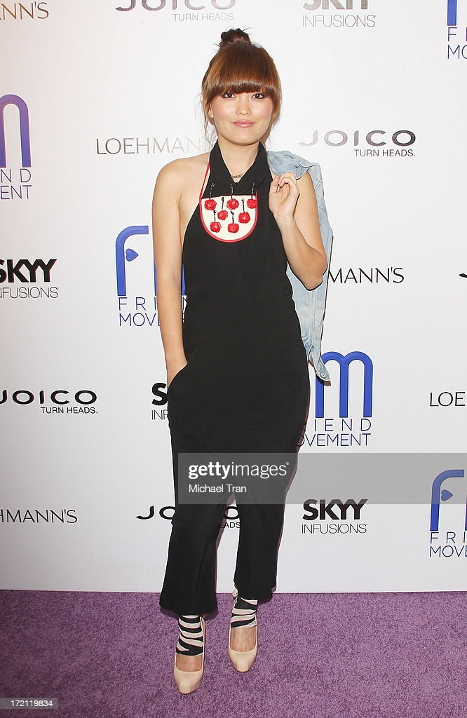 Hana Mae Lee arrives at the Friend Movement Campaign benefit concert held at El Rey Theatre on July 1, 2013 in Los Angeles, California.