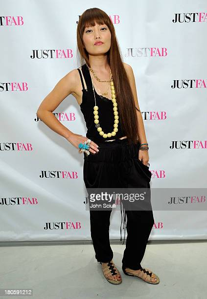 Hana Mae Lee attends JustFabcom Los Angeles flagship store debut at Glendale Galleria on September 14 2013 in Glendale California