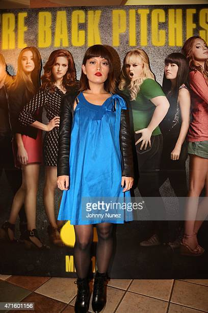 Hana Mae Lee attends the 'Pitch Perfect 2' special screening at Regal Theater on April 29 in New York City