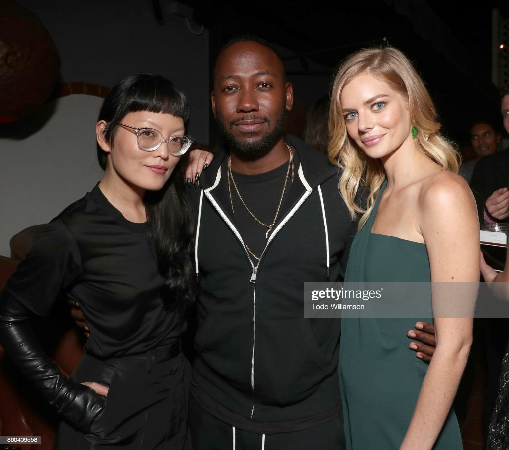 Hana Mae Lee, Lamorne Morris and Samara Weaving attend the Los Angeles Premiere of 'The Babysitter' on October 11, 2017 in Los Angeles, California.