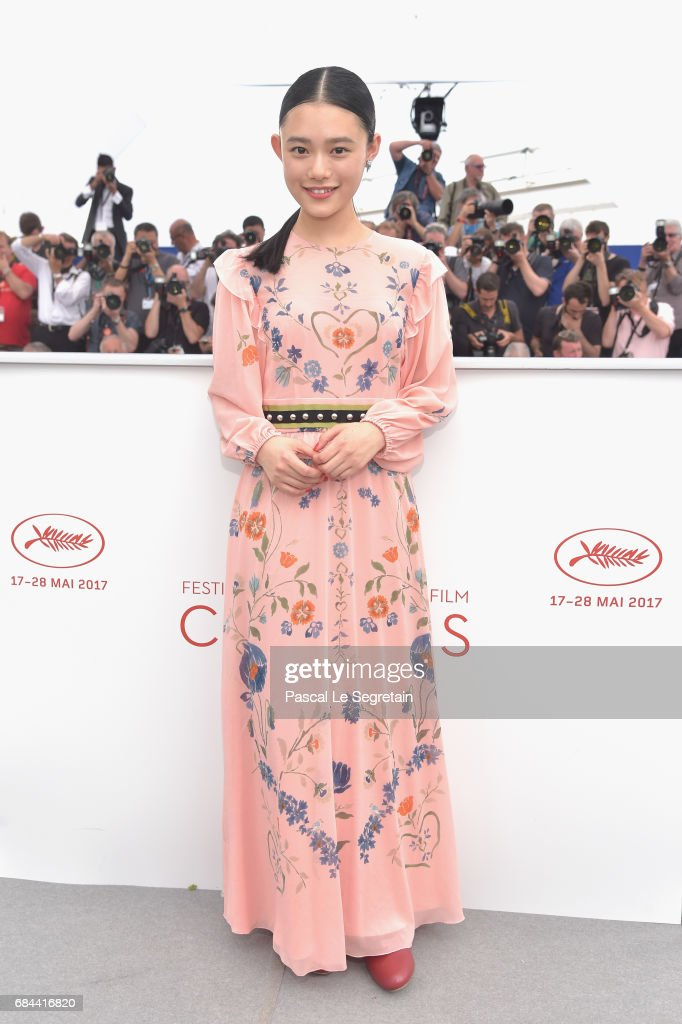 Hana Sugisaki attends the 'Blade Of The Immortal (Mugen No Junin)' photocall during the 70th annual Cannes Film Festival at Palais des Festivals on May 18, 2017 in Cannes, France.
