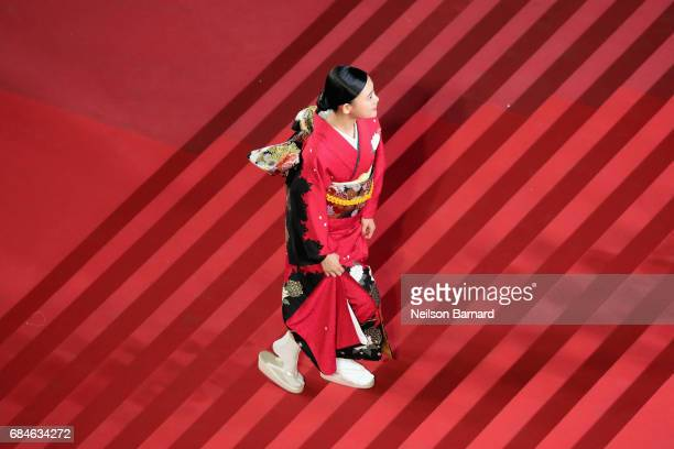 Hana Sugisaki attends the 'Blade Of The Immortal ' screening during the 70th annual Cannes Film Festival at Palais des Festivals on May 18 2017 in...