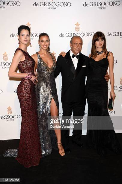Hanaa Ben Abdesslem Irina Shayk Fawaz Gruosi and Isabeli Fontana attends the de Grisogono Party during the 65th Annual Cannes Film Festival at Hotel...