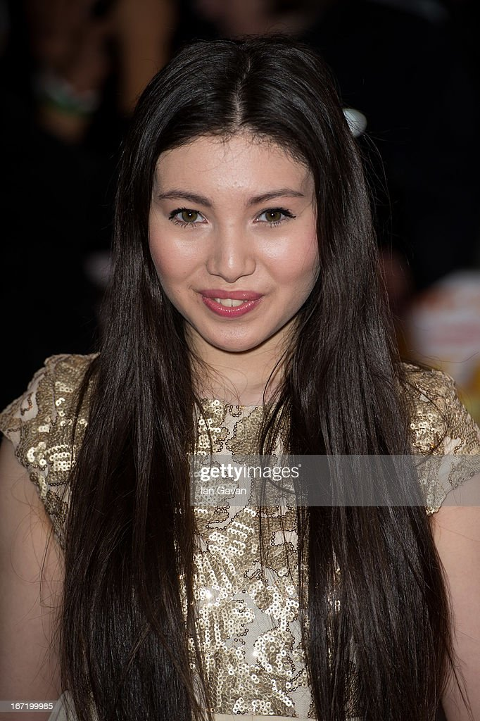Hanae Atkins attends the UK Premiere of 'All Stars' at the Vue West End cinema on April 22, 2013 in London, England.