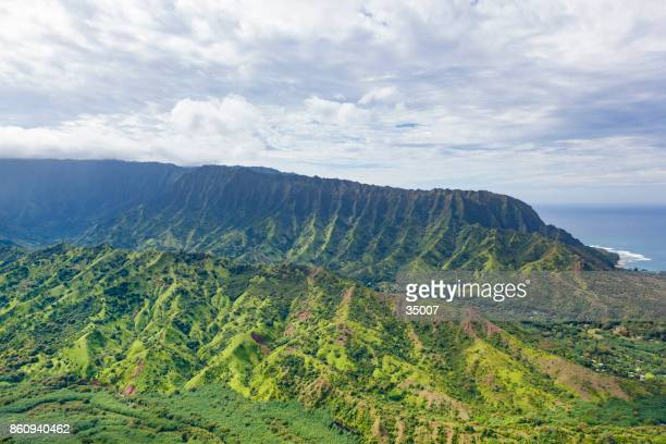 ハナレイ渓谷、カウアイ島、ハワイ島。