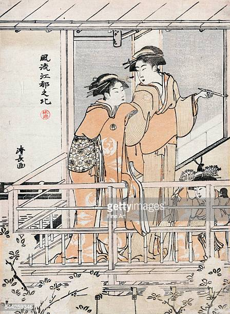 Furyu edo no kita Updated views of Yoshiwara Between 1785 and 1789 Woodcut color 254 x 184 cm