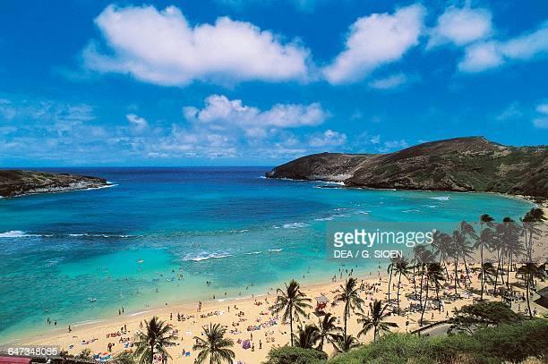 Hanauma Bay Beach island of Oahu Hawaii United States of America