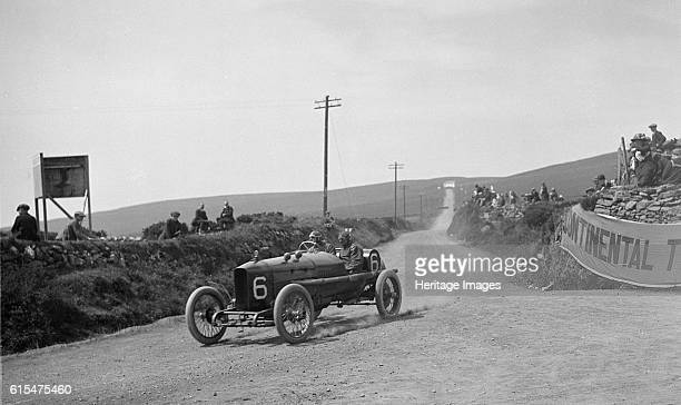 AJ Hancock's Vauxhall competing in the RAC Isle of Man TT race 10 June 1914 Vauxhall 3308 cc Event Entry No 6 Driver Hancock AJ Finished 12th Place...