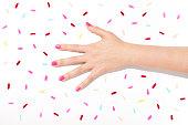 Nail Polish, Fashion Model, human hand, hand, color swatch, multi colored