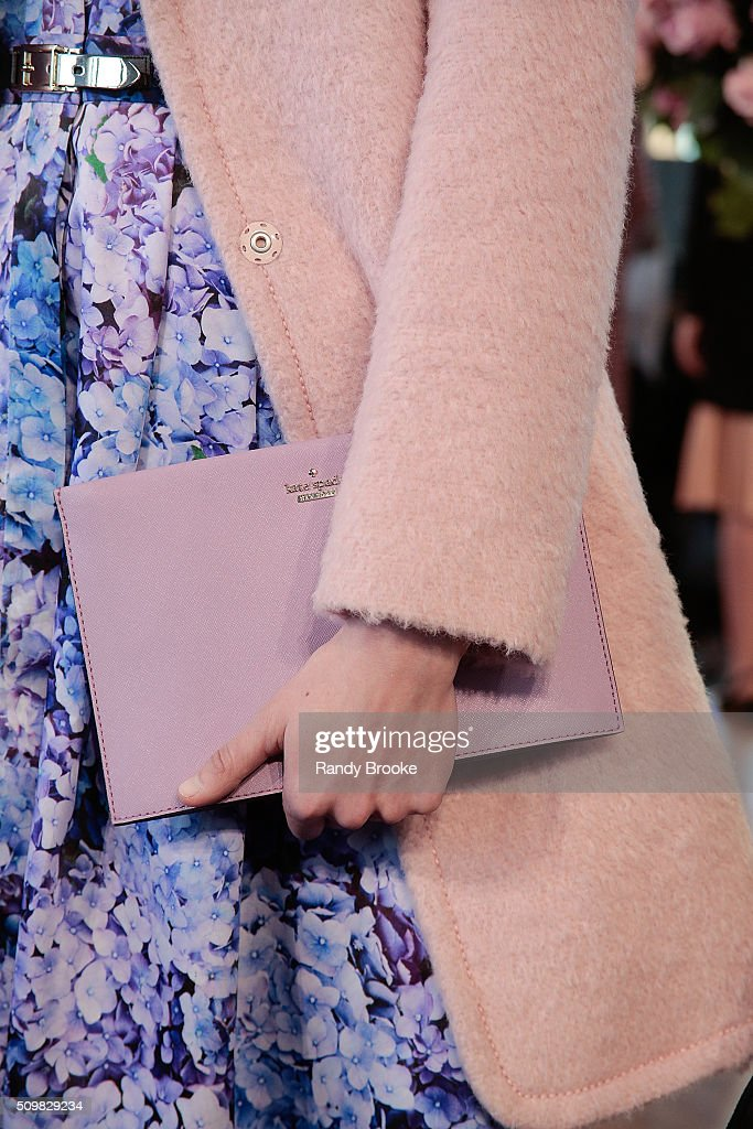 Hand bag detail at the Kate Spade New York Presentation of Fall 2016 during New York Fashion Week at The Rainbow Room on February 12, 2016 in New York City.