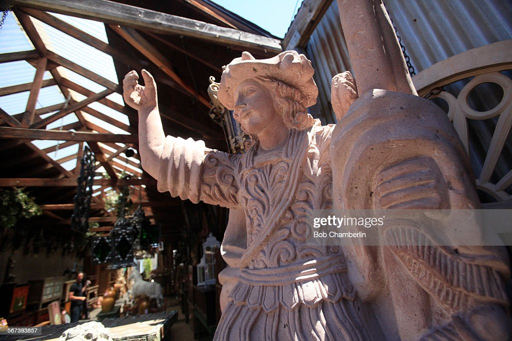Hand Carved Statue At Longtime SoCal Furniture Company Arte De Mexico On  JULY 24, 2014