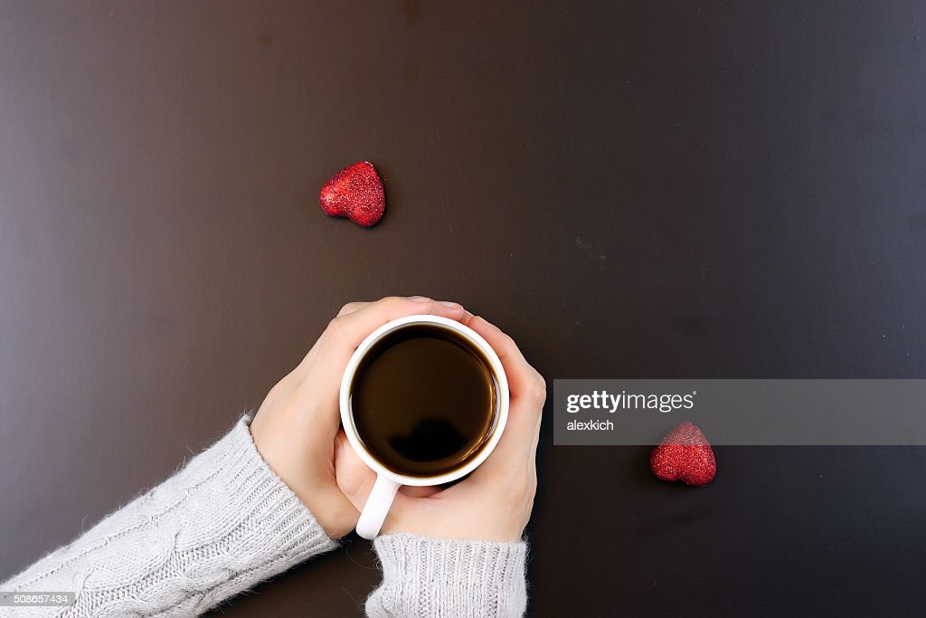 hand coffee background couple : Stock Photo