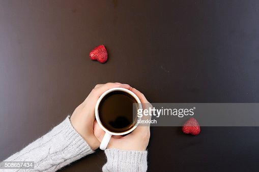 hand coffee background couple : Stock Photo