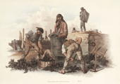 Hand coloured aquatint from 'The Costume of Great Britain' by William H Pyne a book containing 60 images of people at work and scenes of everyday...