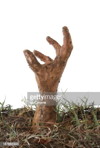Hand coming out of the Ground