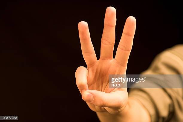 Hand zu zählen (drei