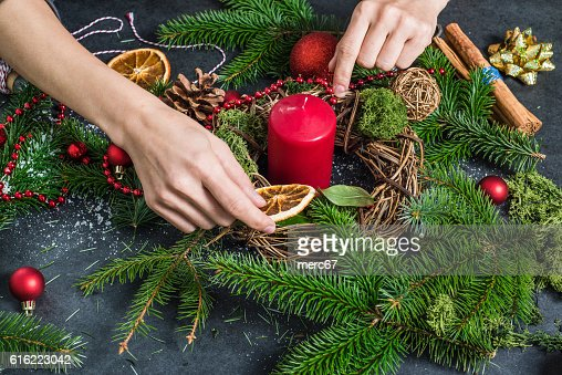 Hand craft festive decorations : Stock-Foto