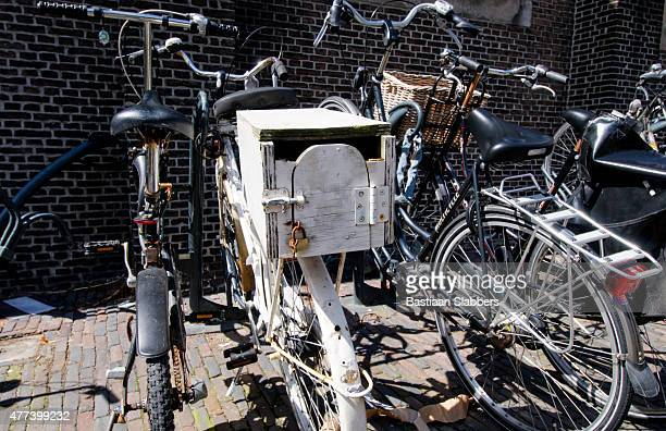 Hand Crafted Luggage Carrier on back of Dutch Bicycle
