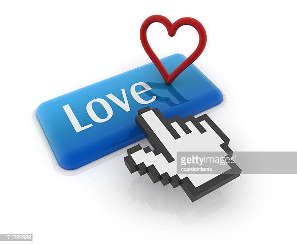 Hand cursor on love button
