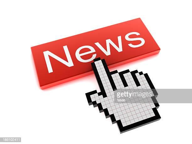 Hand Cursor on News Button