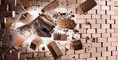 First Breaking Wall Of Bricks