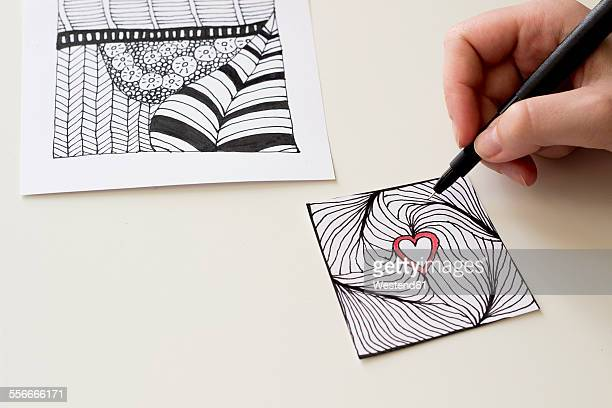 Hand drawing Zentangle heart