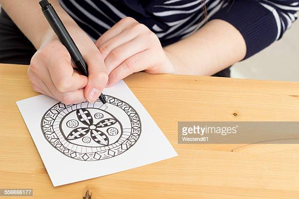Hand drawing Zentangle motif