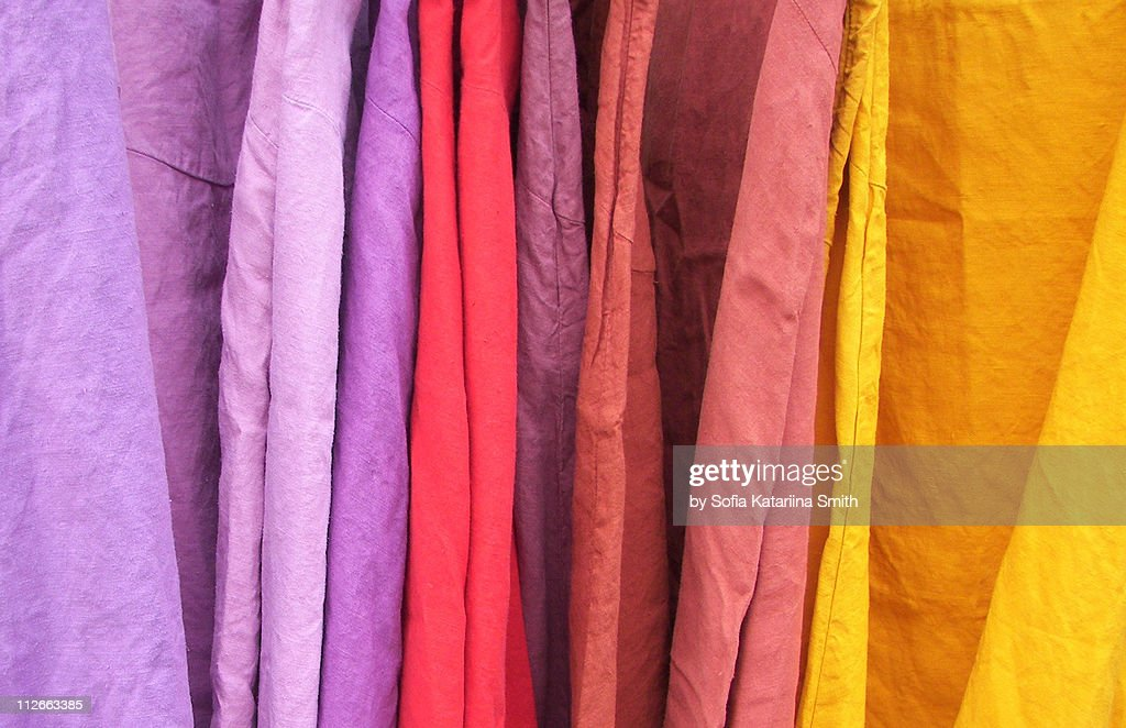 Hand dyed fabric : Stock Photo