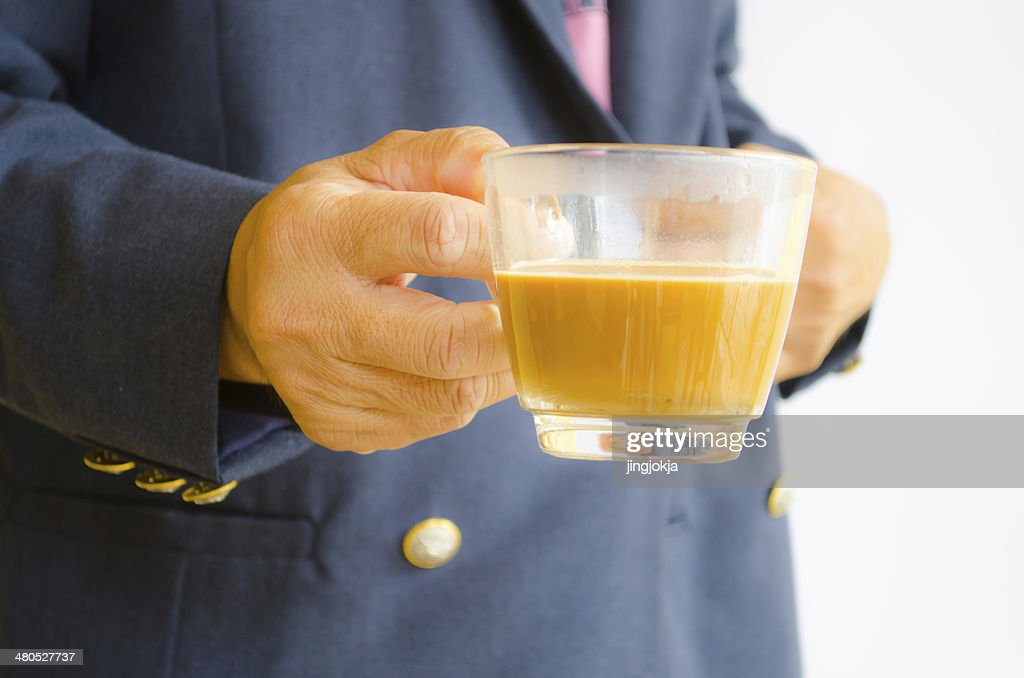 Hand for coffee : Stock Photo