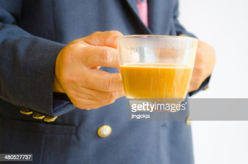 Hand for coffee : Stockfoto