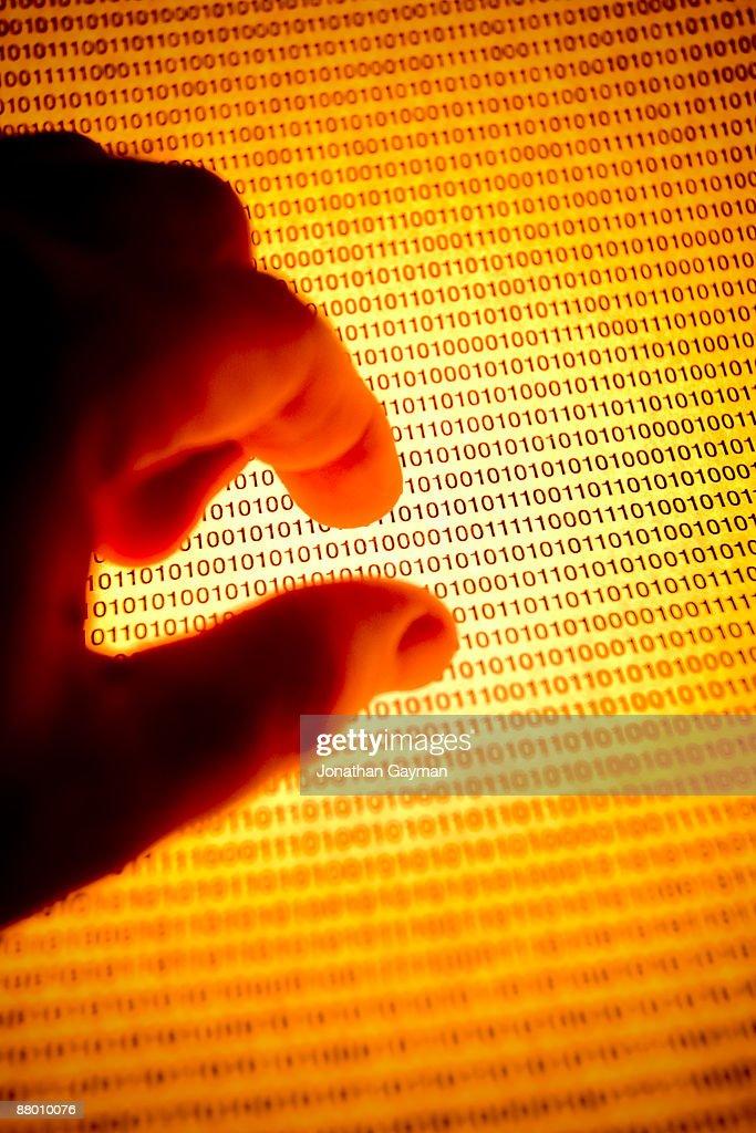 Hand gestures at computer code