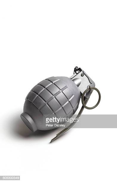 Hand grenade with copy space