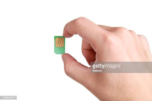 Hand holding a phone card