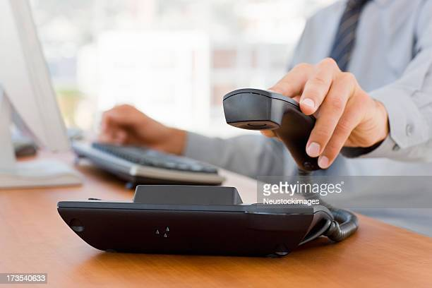 ハンド保持ビジネス電話