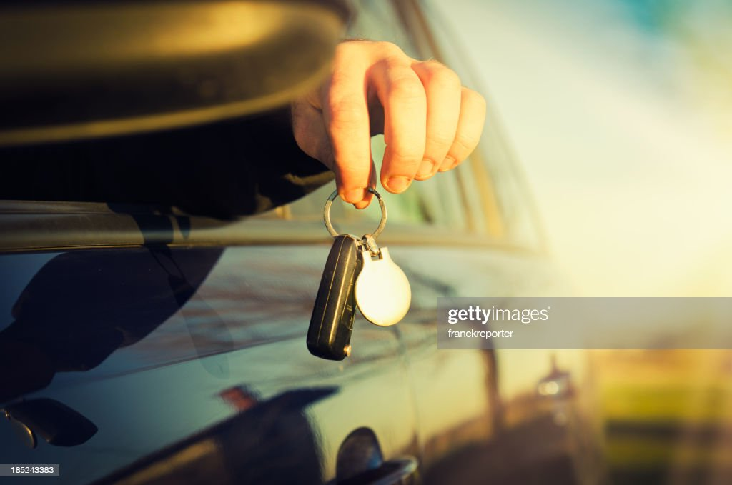 Hand Holding Car Key : Stock Photo