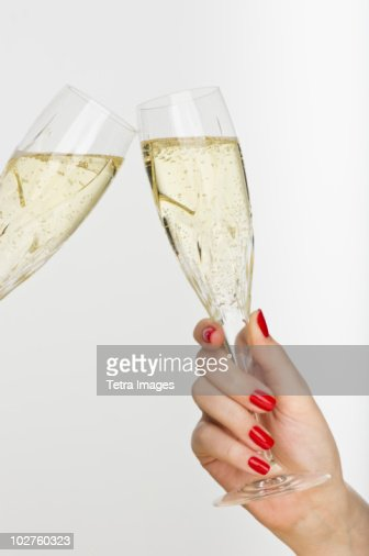 Hand Holding Champagne Glass Stock Photo Getty Images
