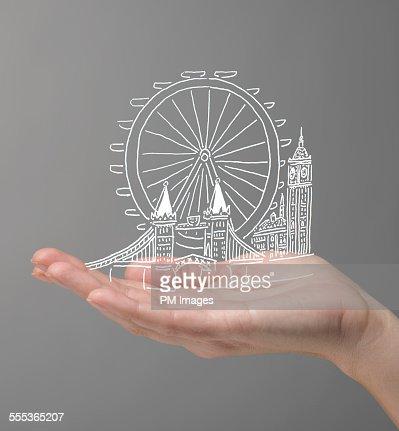 Hand holding London