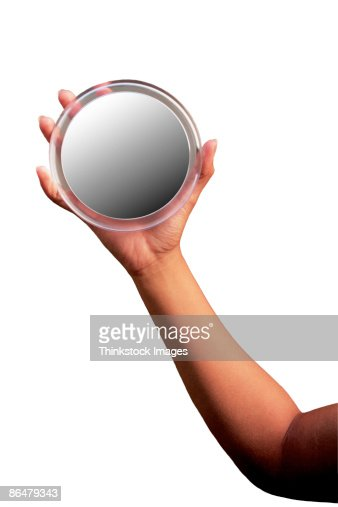 Hand Holding Mirror Stock Photo Getty Images