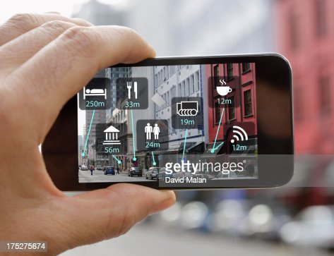 Hand holding mobile device