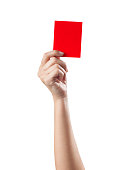 Red card isolated on a white background