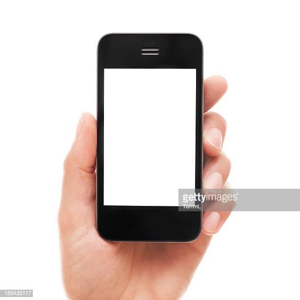 Main tenant le téléphone intelligent