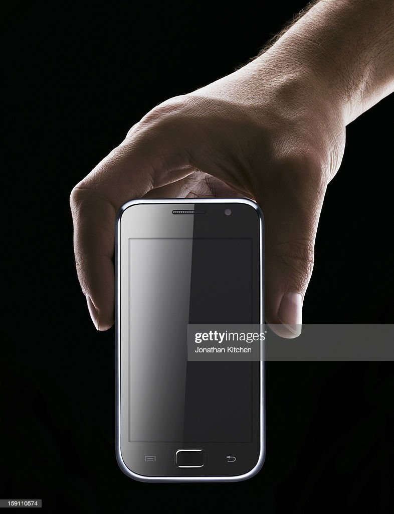 Hand Holding Smartphone : Stock Photo