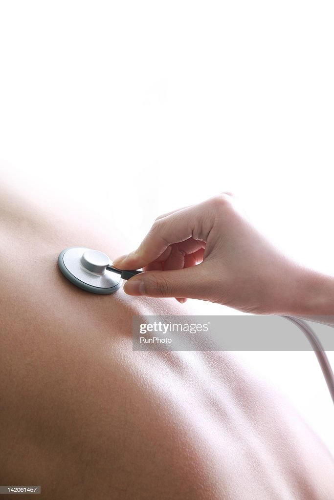 hand holding stethoscope,close-up : Stock Photo